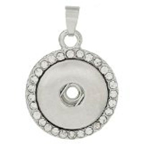Rhinestone Pendant Fits Snaps Chunk Buttons