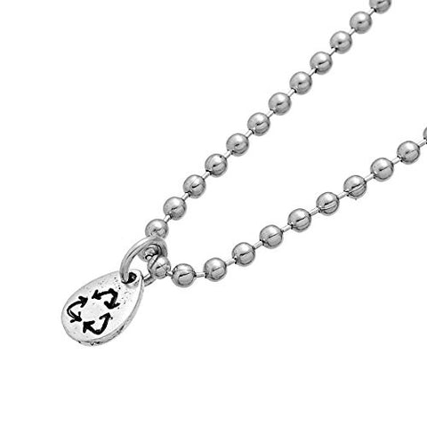 Recycling Symbol Charm Pendant Bead for Necklaces - Sexy Sparkles Fashion Jewelry - 4