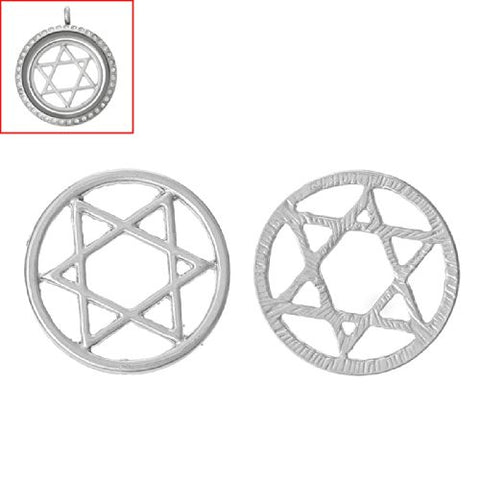 Star Of David Floating Charms Dish Plate for Glass Locket Pendants and Floating - Sexy Sparkles Fashion Jewelry - 3