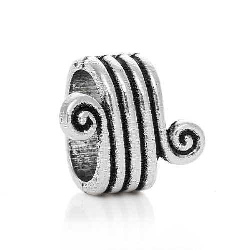 Charm Beads for Leather Bracelet/watch Bands or Wrist Bands (Stripe Pattern) - Sexy Sparkles Fashion Jewelry - 1
