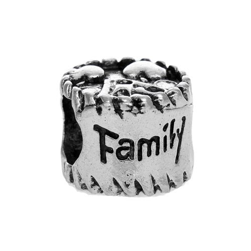 Family Love Bead European Bead Compatible for Most European Snake Chain Charm Bracelets