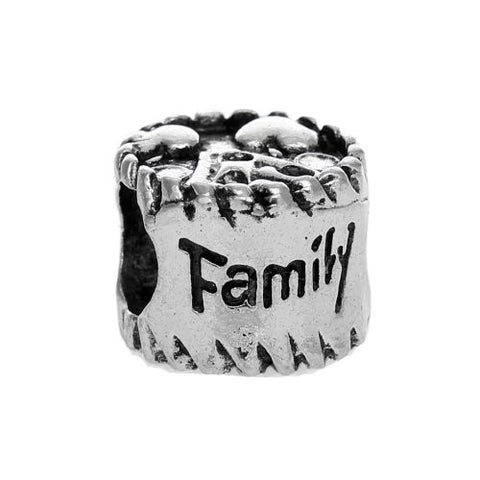 Family Love Bead European Bead Compatible for Most European Snake Chain Charm Bracelets - Sexy Sparkles Fashion Jewelry - 1