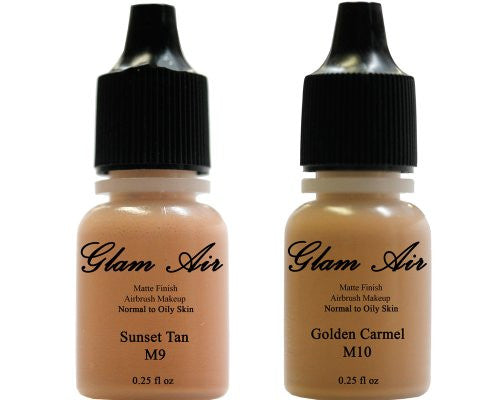 Glam Air Airbrush Water-based Foundation in Set of Two (2) Assorted Tan Matte Shades M9-M10 0.25oz - Sexy Sparkles Fashion Jewelry - 1