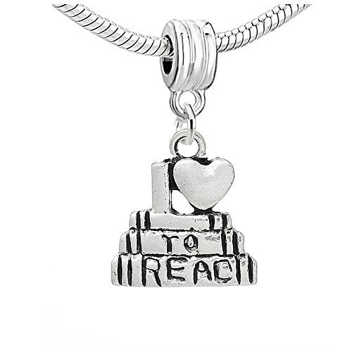 I Love To Read Charm Pendant