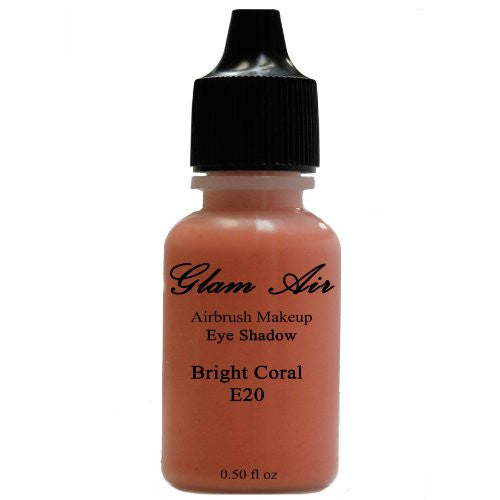 Large Bottle Glam Air Airbrush E20 Coral Eye Shadow Water-based Makeup - Sexy Sparkles Fashion Jewelry - 1