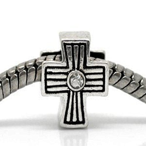 Cross Charm Spacer Beads For Snake Chain Charm Bracelet - Sexy Sparkles Fashion Jewelry