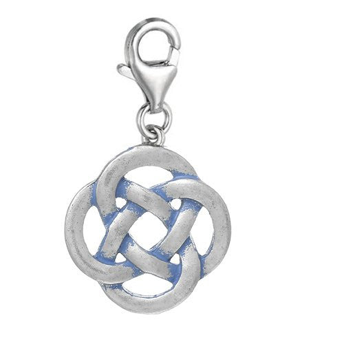 Celtic Knot Clip On For Bracelet Charm Pendant for European Charm Jewelry w/ Lobster Clasp - Sexy Sparkles Fashion Jewelry
