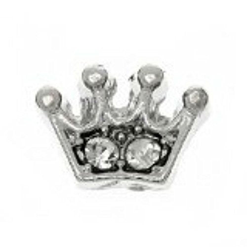 Beautiful Crown Floating Charms For Glass Living Memory Locket - Sexy Sparkles Fashion Jewelry
