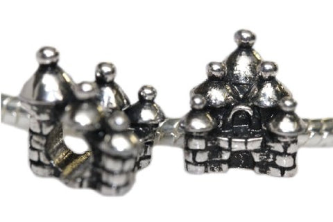 Castle Bead Charm Spacer For Snake Chain Charm Bracelet - Sexy Sparkles Fashion Jewelry - 1