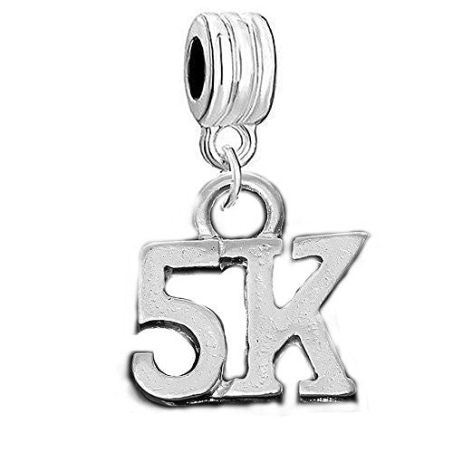5K Marathon Runner Charm Spacer European Bead Compatible for Most European Snake Chain Bracelet - Sexy Sparkles Fashion Jewelry