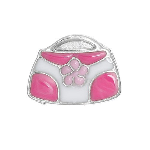 Hand Bag Floating Charms for Glass Locket Pendants and Floating