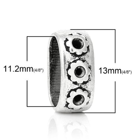 Charm Beads for Leather Bracelet/watch Bands or Wrist Bands (Flower Pattern) - Sexy Sparkles Fashion Jewelry - 2