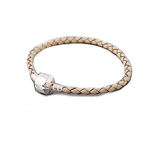 "High Quality Real Leather Bracelet Champagne  (8.25"")"