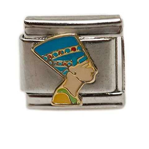 Ancient Egyptian Queen Nefertiti Italian Link Bracelet Charm - Sexy Sparkles Fashion Jewelry - 1