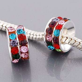 One Multi Crystals European Bead Compatible for Most European Snake Chain Bracelets - Sexy Sparkles Fashion Jewelry - 2