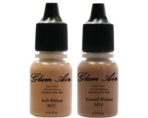 Glam Air Airbrush Water-based Foundation in Set of Two (2) Matte Shades M13 - M14 - Sexy Sparkles Fashion Jewelry - 1