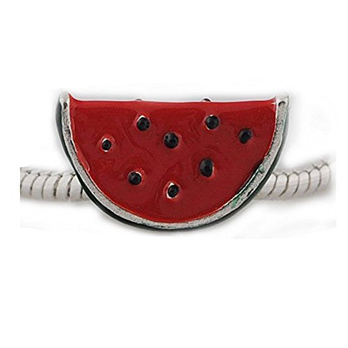 Watermelon Charm European Bead Compatible for Most European Snake Chain Bracelet