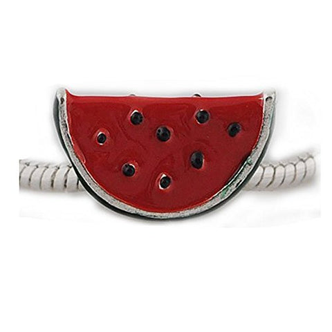Watermelon Charm European Bead Compatible for Most European Snake Chain Bracelet - Sexy Sparkles Fashion Jewelry - 1