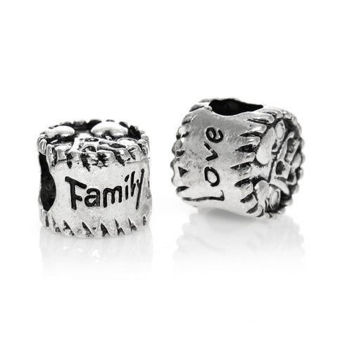 Family Love Bead European Bead Compatible for Most European Snake Chain Charm Bracelets - Sexy Sparkles Fashion Jewelry - 2