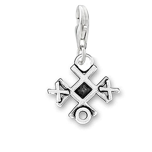 Tic Tac Toe Charm Clip on Pendant Charm for Bracelet or Necklace