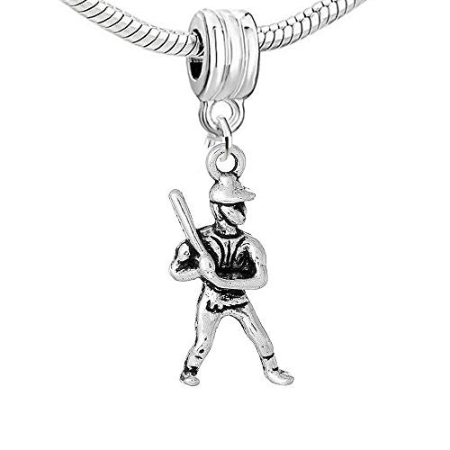 Baseball Player Charm Bead - Sexy Sparkles Fashion Jewelry