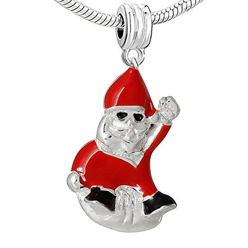 Christmas Santa Claus Charm Bead Spacer for European Snake Chain Bracelet - Sexy Sparkles Fashion Jewelry