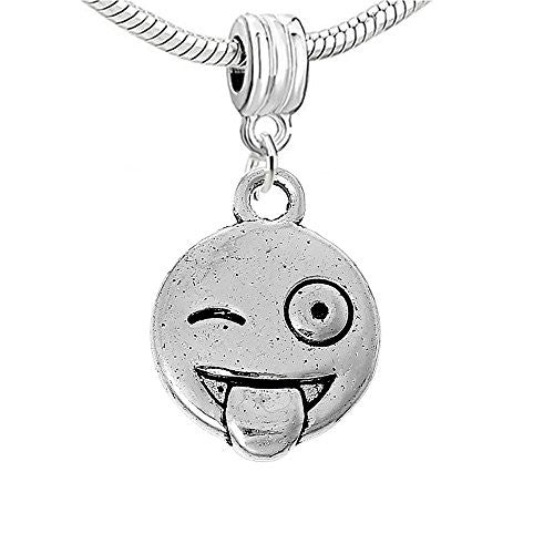Facial Expression Charm for European Snake Chain Charm Bracelet (Tongue)