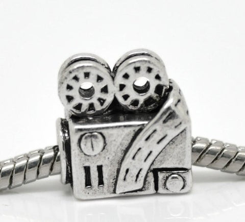 Movie Projector Charm European Bead Compatible for Most European Snake Chain Bracelet - Sexy Sparkles Fashion Jewelry - 2