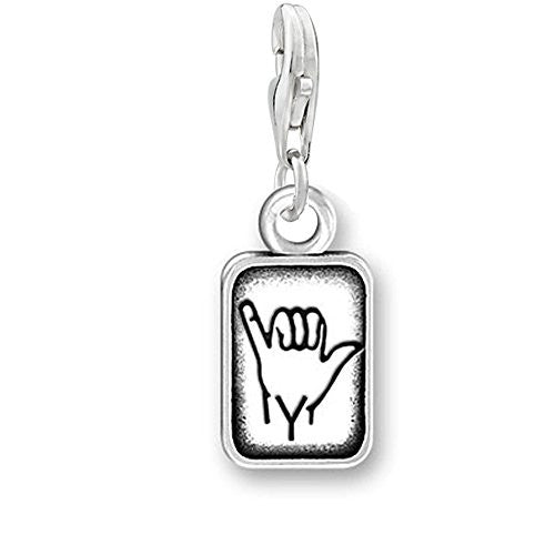 "Sign Language Charm Pendant for Bracelets or Necklaces ""Y"""