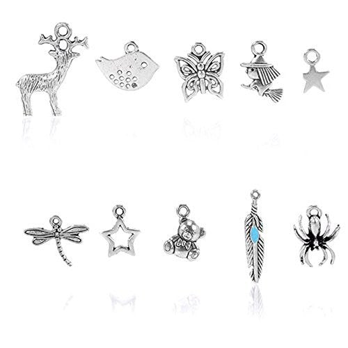 10 Mixed Charms for Necklace Pendants Charms - Sexy Sparkles Fashion Jewelry