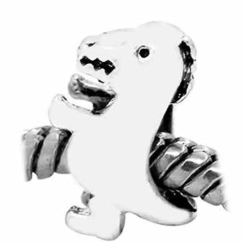 Baby Dinosaur Charm European Bead Compatible for Most European Snake Chain Bracelet - Sexy Sparkles Fashion Jewelry - 1