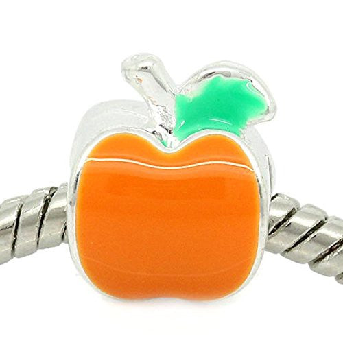 Apple European Bead Compatible for Most European Snake Chain Bracelet
