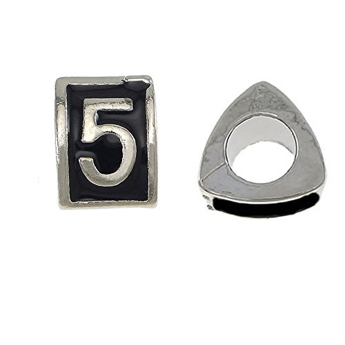 Triangle Number 5 Charm Bead for European Snake Chain Charm Bracelet - Sexy Sparkles Fashion Jewelry - 1