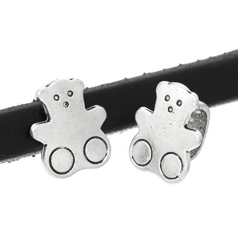 Charm Beads for Leather Bracelet/watch Bands or Wrist Bands (Bear) - Sexy Sparkles Fashion Jewelry - 3