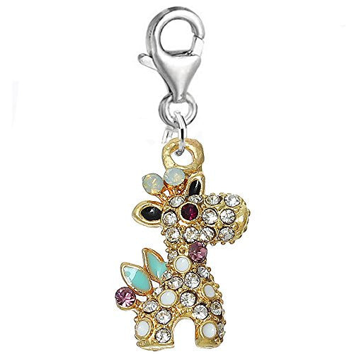 Giraffe Charm Bead Clip on Pendant for European Charm Jewelry w/ Lobster Clasp - Sexy Sparkles Fashion Jewelry
