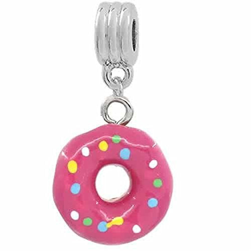 Donut Dangle European Bead Compatible for Most European Snake Chain Bracelets