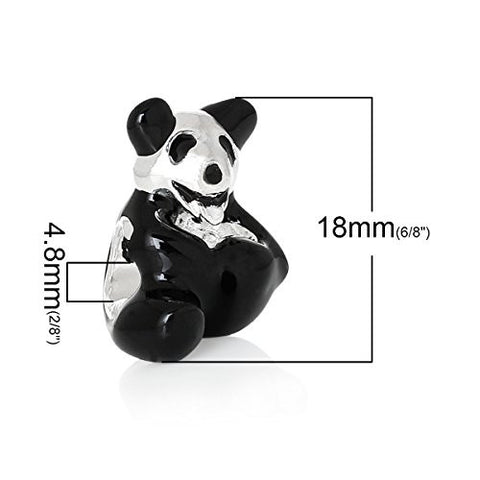 Cuddly Panda Bear Bead Compatible for Most European Snake Chain Bracelet - Sexy Sparkles Fashion Jewelry - 3