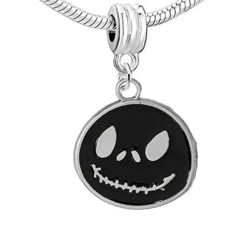 Black Enamel Nightmare Before Christmas Charm European Bead Compatible for Most European Snake Chain Bracelet - Sexy Sparkles Fashion Jewelry