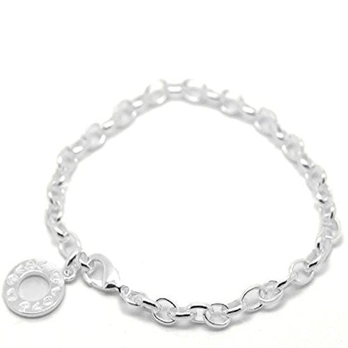 "Silver Plated Link Chain Bracelets 23cm(9"") long"