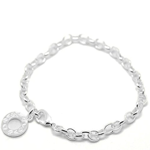"Silver Plated Link Chain Bracelets 23cm(9"") long - Sexy Sparkles Fashion Jewelry - 1"