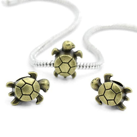 Sea Turtle Charm Spacer For Snake Chain Charm Bracelet - Sexy Sparkles Fashion Jewelry - 2