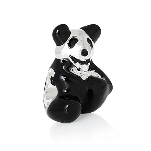Cuddly Panda Bear Bead Compatible for Most European Snake Chain Bracelet