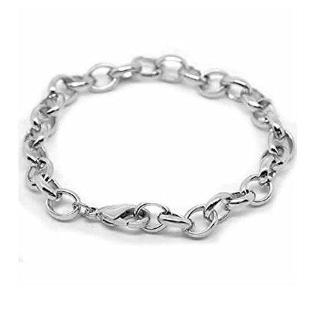 "Silver Tone Lobster Clasp Bracelets Fit Link Chain Bracelet 19cm(7-1/2"") - Sexy Sparkles Fashion Jewelry - 1"