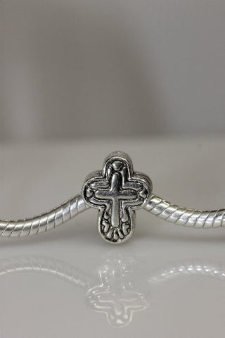 Cross Charm Slide on Bead Spacer European Bead Compatible for Most European Snake Chain Charm Bracelet - Sexy Sparkles Fashion Jewelry - 2