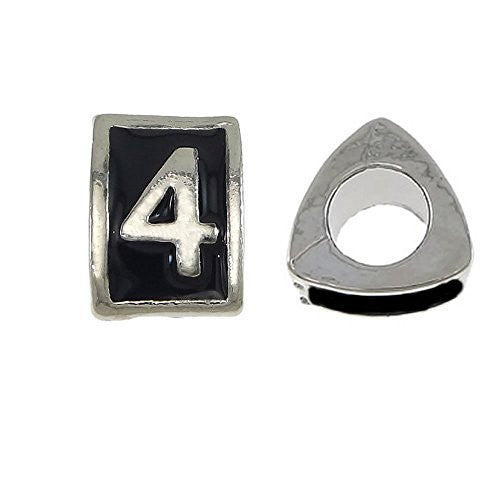 Triangle Number 4 Charm Bead for European Snake Chain Charm Bracelet - Sexy Sparkles Fashion Jewelry - 1
