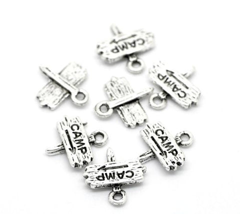 Camp Fingerpost Bracelet Necklace Charm Pendant - Sexy Sparkles Fashion Jewelry - 2