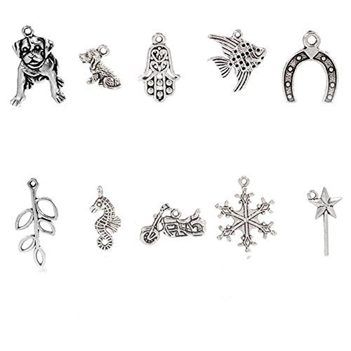 10 Mixed Charms for Necklace Charms Pendants - Sexy Sparkles Fashion Jewelry