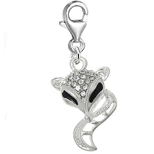 Fox Clip on for Bracelet Charm Pendant for European Charm Jewelry w/ Lobster Clasp - Sexy Sparkles Fashion Jewelry