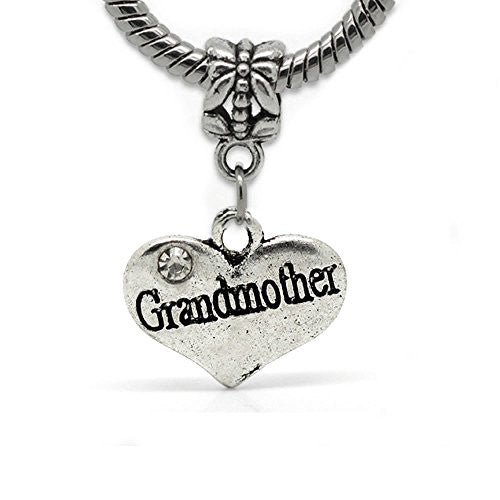 2 Sided Heart Charm (Grandmother)