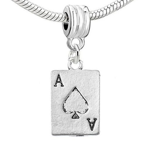 Poker Card Charm Dangle For Snake Chain Charm Bracelet
